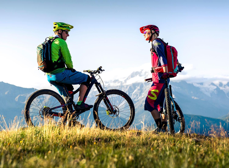 In mountain bike attraverso le Dolomiti